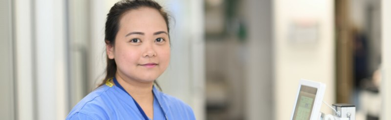 Emergency Department nurse smiling