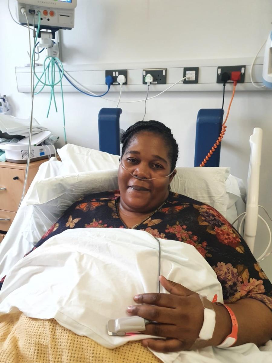 Nyarai Cheto, 100th RECOVERY trial patient at Royal Surrey