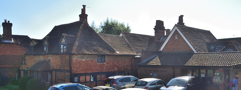 Wide shot of Cranleigh Village Hospital