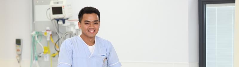 Endoscopy staff member smiling