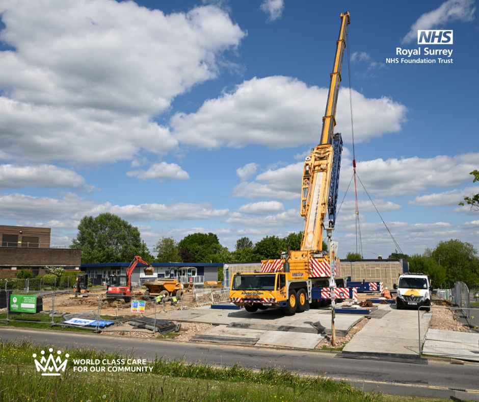 Pic of work starting building Guildford Ward