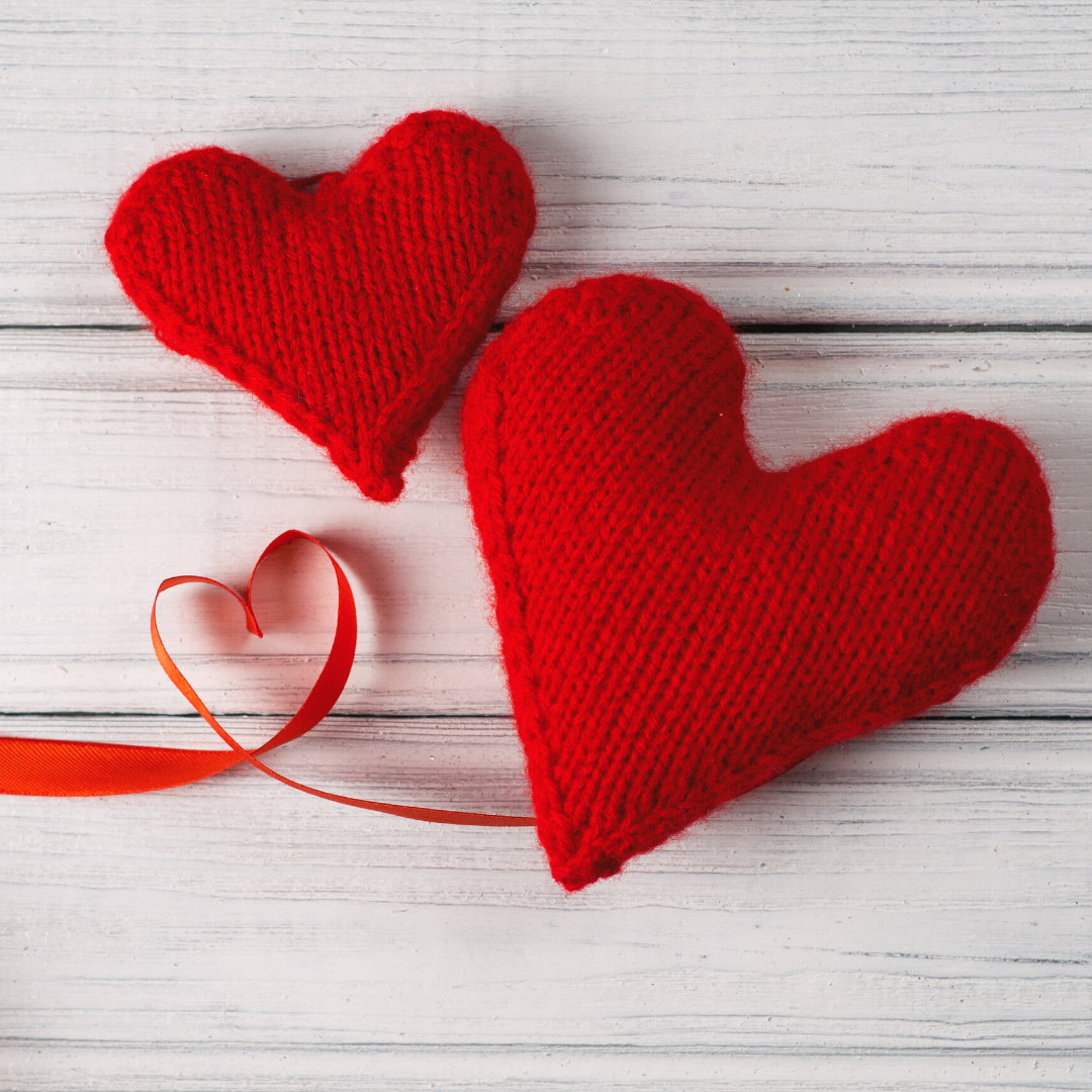 Red Knitted hearts