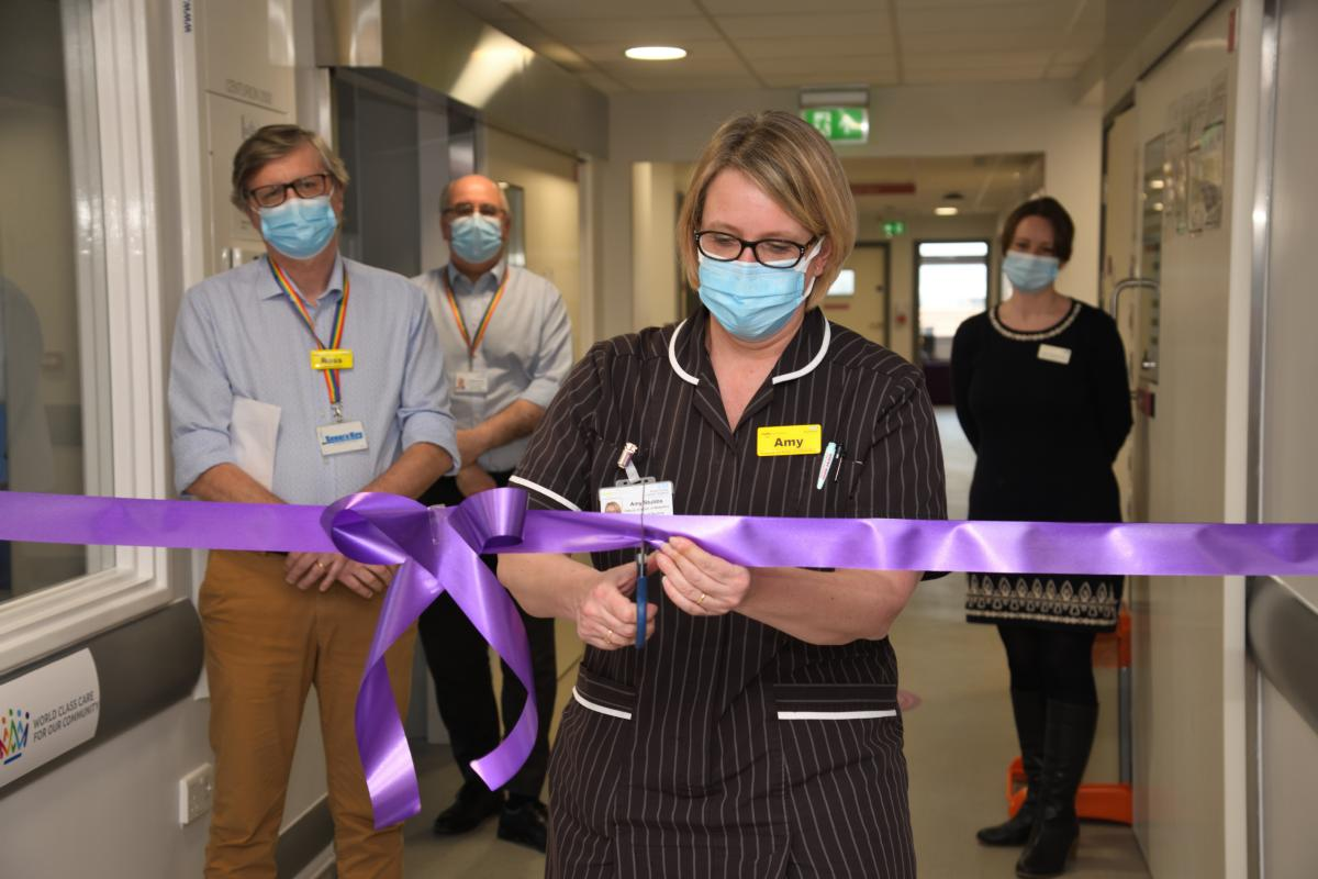 Amy Stubbs cuts the ribbon at launch of refurbished special care baby unit