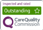 Care Quality Commission image - 'Inspected and rated Outstanding'