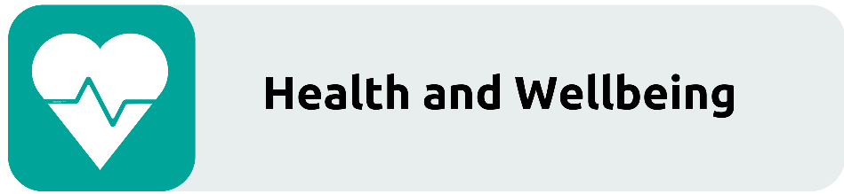 health and wellbeing recruitment button. Links through to the Health and Wellbeing page