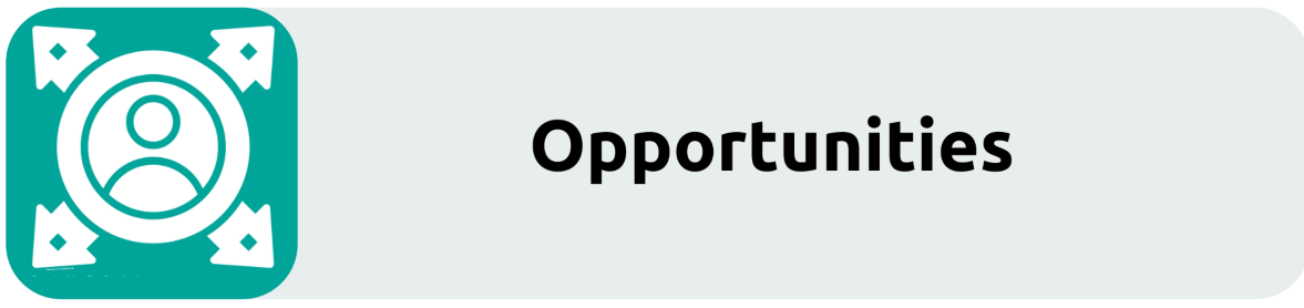 Opportunities recruitment button. Links through to the opportunities page