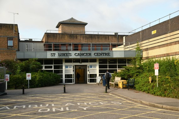 Outside view of St Luke's Cancer Centre entrance
