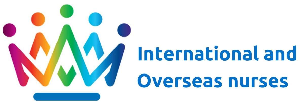 International and overseas nurses crown logo