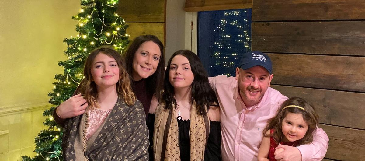 Kelly (staff member) and her family at Christmas
