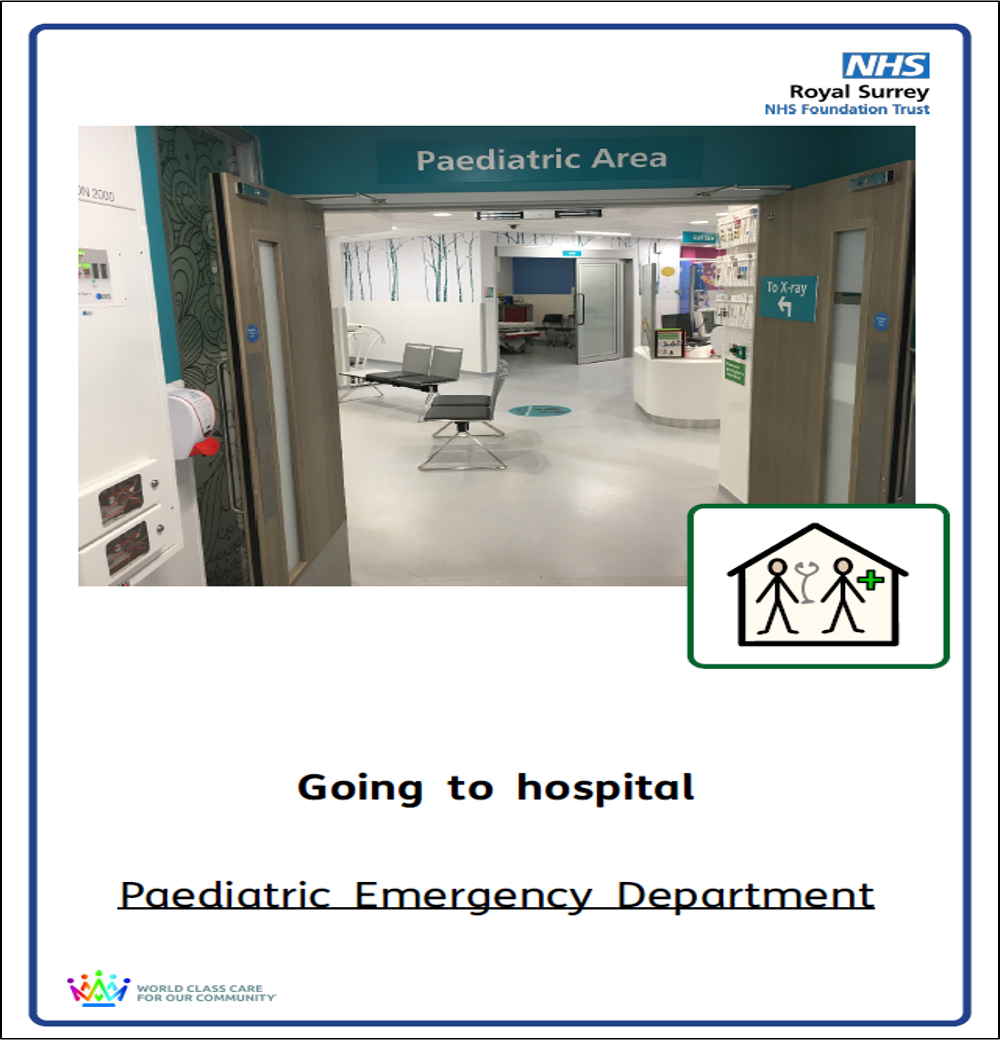 Copy of booklet front cover for going to the paediatric emergency department