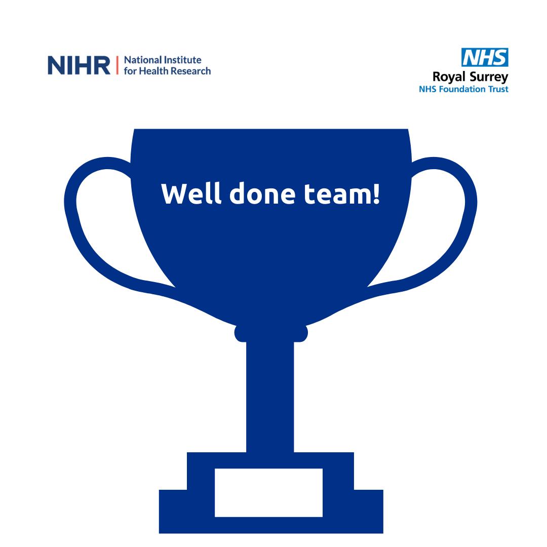 NIHR award 'Well done team'