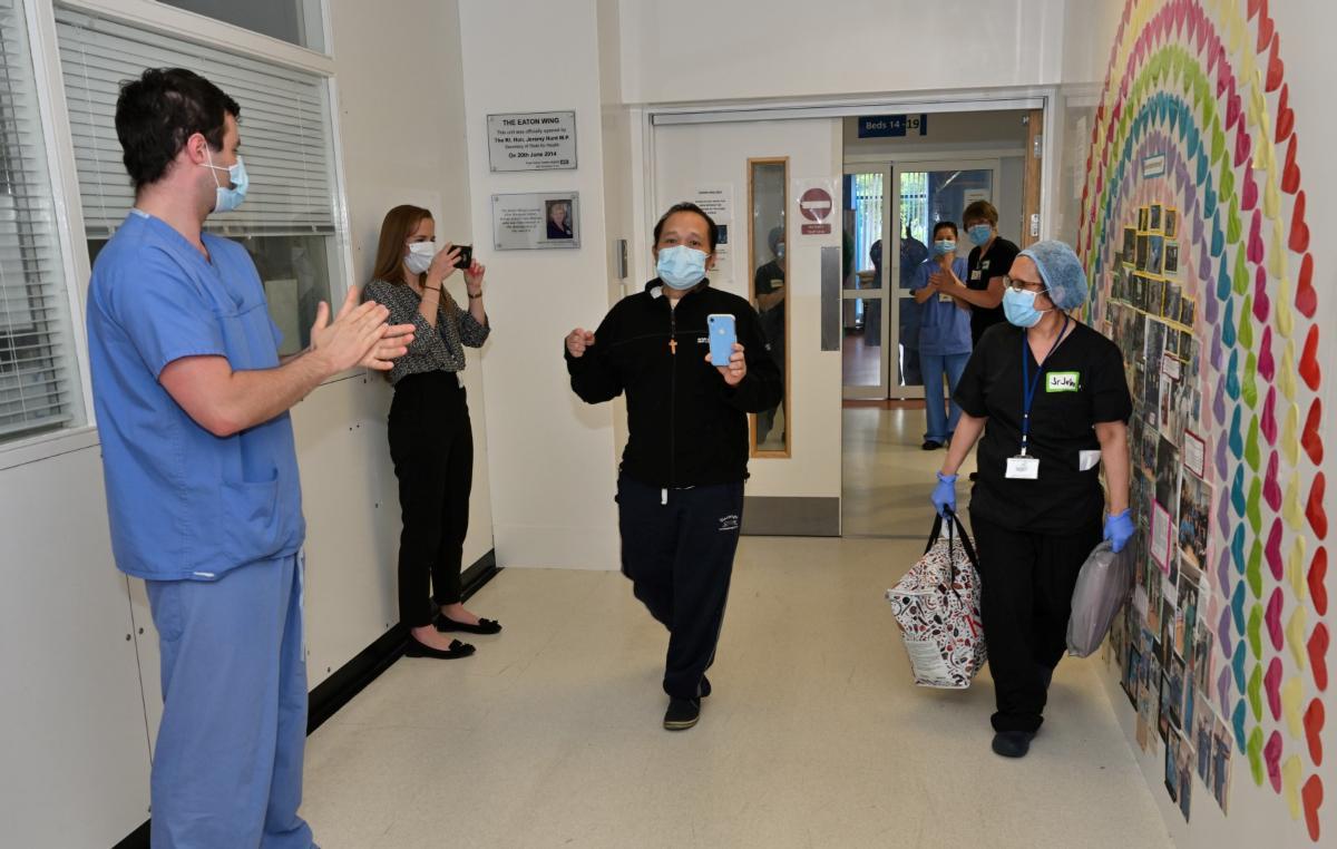Nurse, Edgar, being discharged