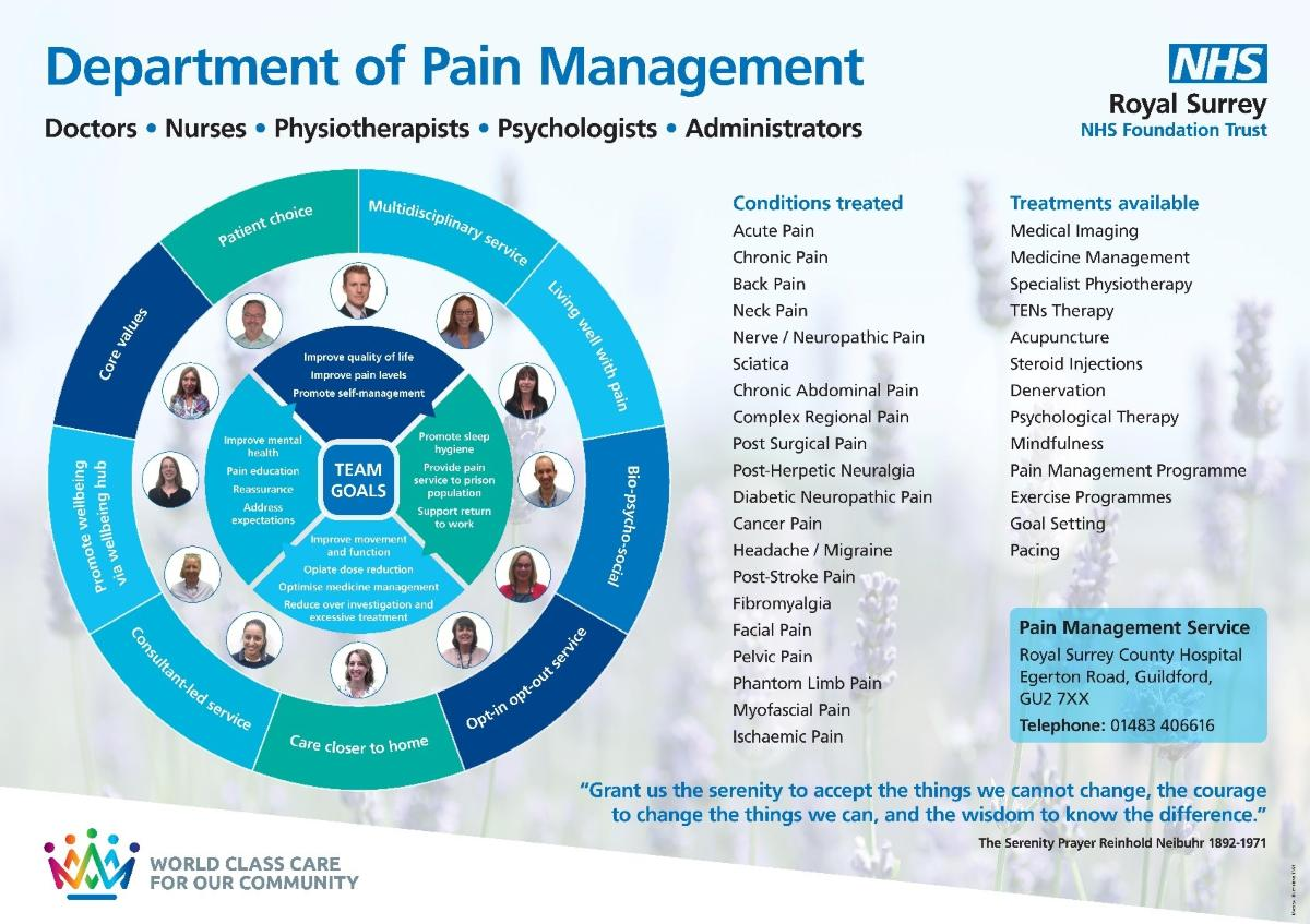Pain management team and structure