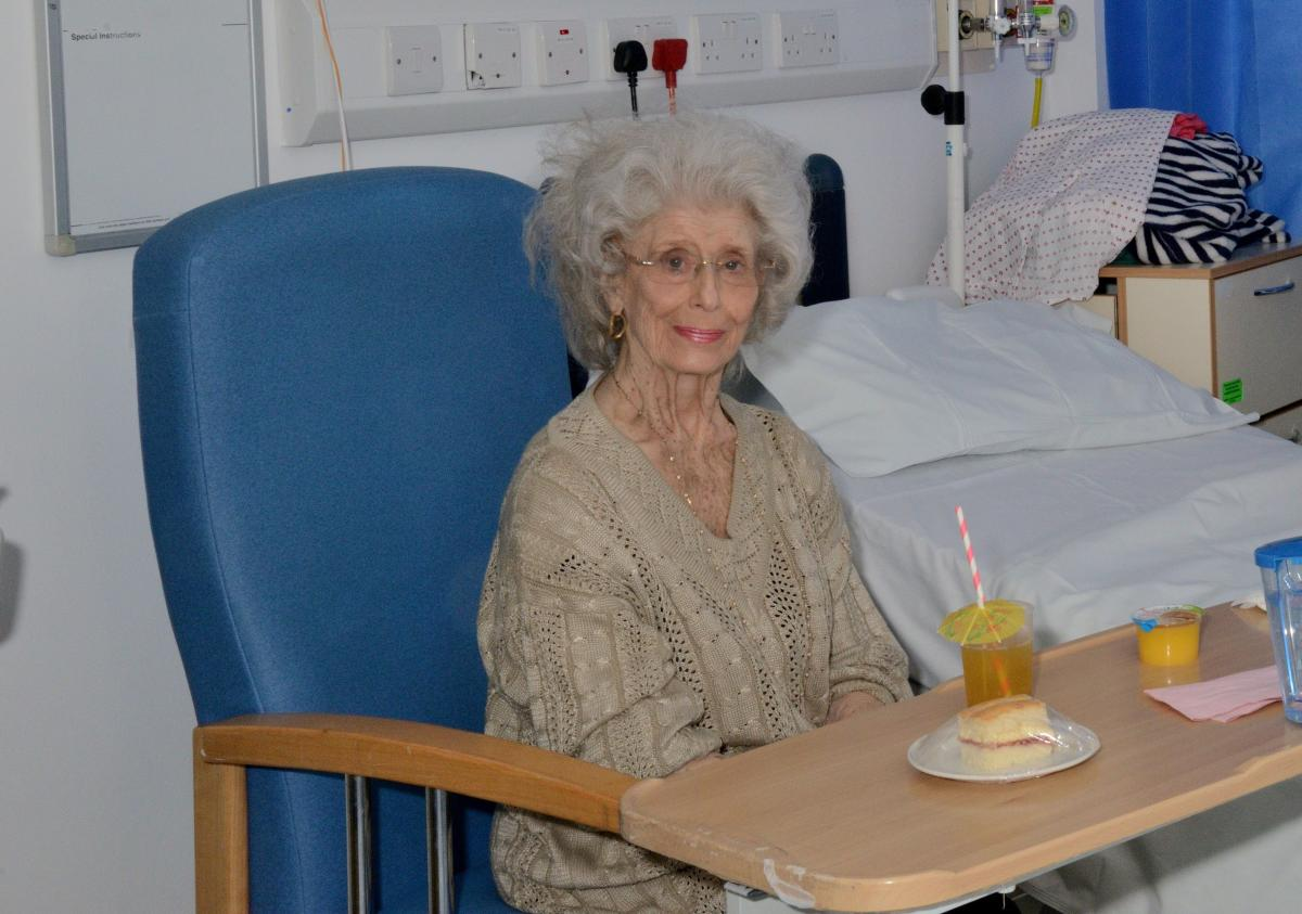 Lady patient dressed in her day clothes