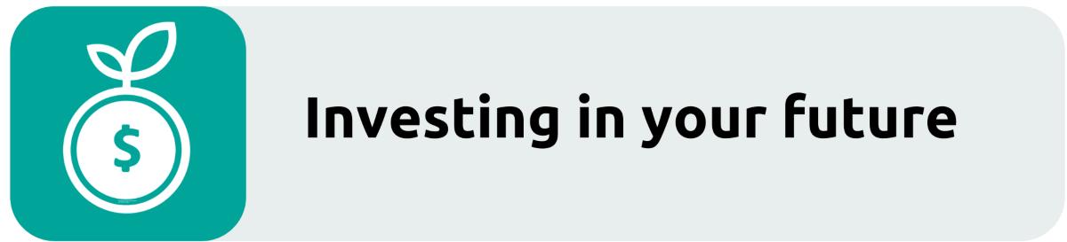 Investing in future button